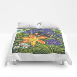 Northern Oriole and Day Lily Comforters