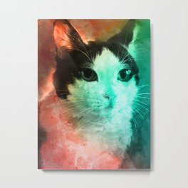 Cat Looking For Attention Metal Print