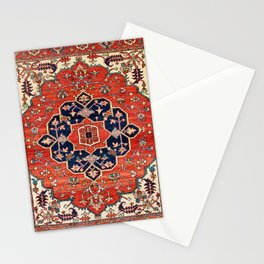 Heriz Bilverdi Azerbaijan Northwest Persian Rug Print Stationery Cards