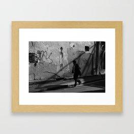 Paris street shadows Framed Art Print