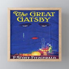The Great Gatsby vintage book cover - Fitzgerald Framed Mini Art Print