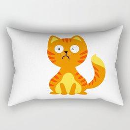 Scared cat - fat cat Rectangular Pillow