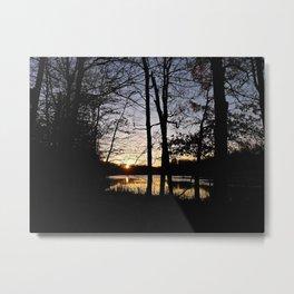 Nature Preserve at Sunset Metal Print