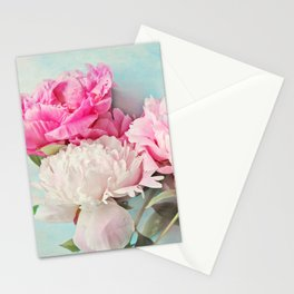 3 peonies Stationery Cards