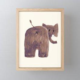 Elephant's butt Framed Mini Art Print