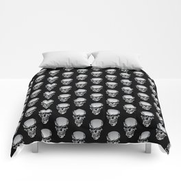 Chrome Skull Illustration Comforters