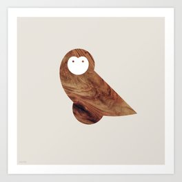 Minanimals: Owl Art Print