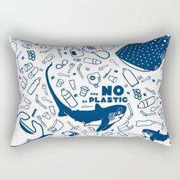 Say No to Plastic- Alopias Rectangular Pillow