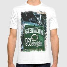Green Machine Mens Fitted Tee White MEDIUM