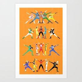 Super Sentai Art Print