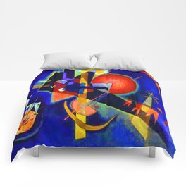 Kandinsky In Blue Comforters
