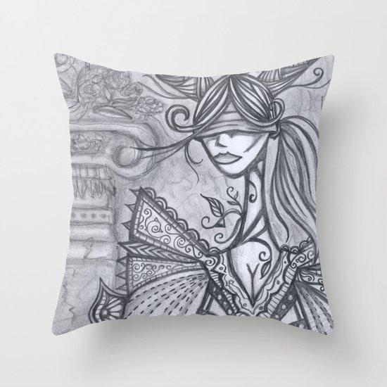 Blind Sensibility (Sketch) Throw Pillow