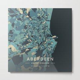 Aberdeen, United Kingdom - Cream Blue Metal Print