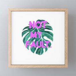Fault! Framed Mini Art Print