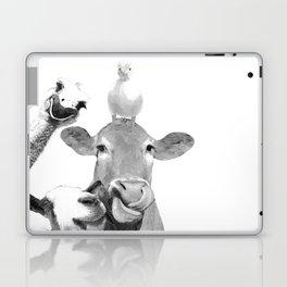 Black and White Farm Animal Friends Laptop & iPad Skin