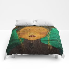 Wounded Nature Queen Comforters