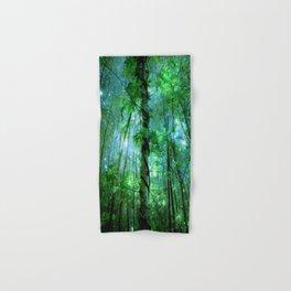 Forest Of The Fairies Green Blue Hand & Bath Towel
