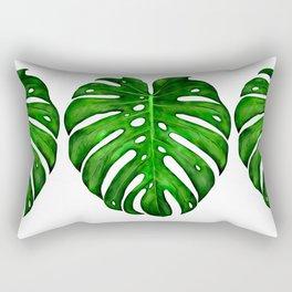 Monstera Leaf Paintings Rectangular Pillow