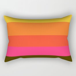 Earth and Summer Sky - Color Strips - Colors of Travel Rectangular Pillow