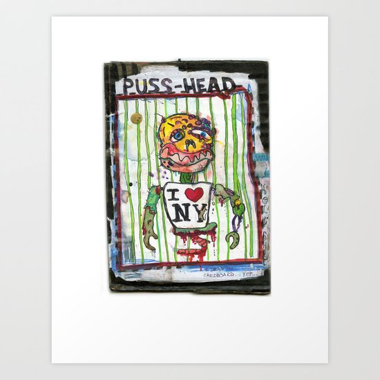 Puss Head Art Print