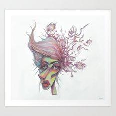 Sorting through Weeds Art Print