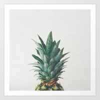 Art Prints featuring Pineapple Top by Cassia Beck