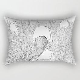 Goodbye Line Version Rectangular Pillow