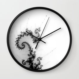 detail on mandelbrot set - pseudopod Wall Clock
