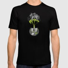 There's ecology in every drop Black MEDIUM Mens Fitted Tee