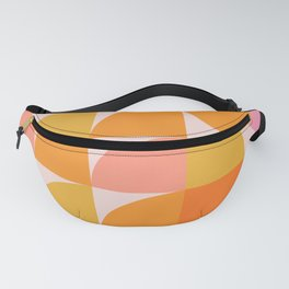 Mid Century Mod Geometry in Pink and Orange Fanny Pack
