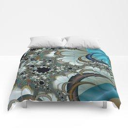 Snow Moons Fractal Comforters