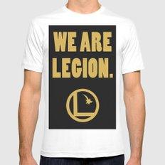 Legion of Superheroes, We are Legion. Mens Fitted Tee White MEDIUM