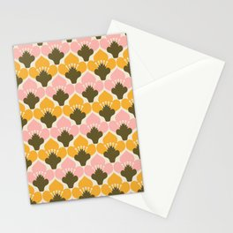 Yellow & Pink Flower Pattern Stationery Cards