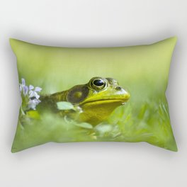 Frog Portrait Rectangular Pillow