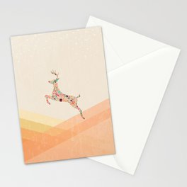 Christmas reindeer 5 Stationery Cards