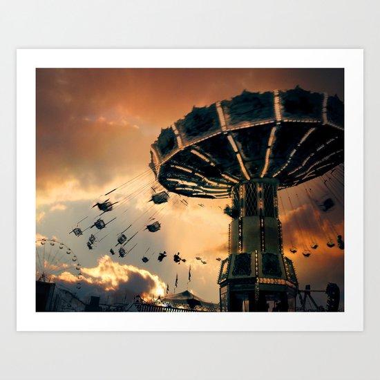 Carnival Clouds Art Print