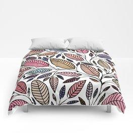 Floral Leaf Illustration *P07008 Comforters