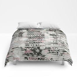Vulnerability Commerce (P/D3 Glitch Collage Studies) Comforters