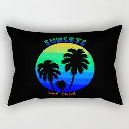 Sunsets & Chill (Neon) Rectangular Pillow