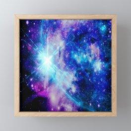 galaxy Nebula Star Framed Mini Art Print