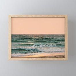 Pink Skies Ocean Vibes Framed Mini Art Print