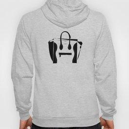 Black and White Luggage Handbag Tote Pattern Hoody