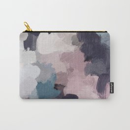 Teal Indigo Lavender Abstract Wall Art, Feminine Painting Print, Modern Wall Art Carry-All Pouch