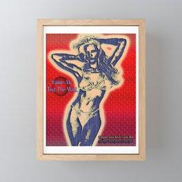 FAME AH TEST THE WALL Framed Mini Art Print