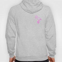 Neon Flamingo Pocket Hoody