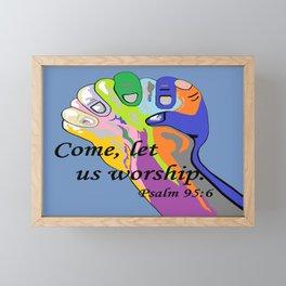 Come Let Us Worship Framed Mini Art Print
