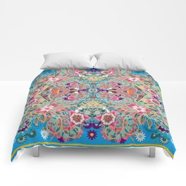 Mandala - Turquoise Boho Comforters