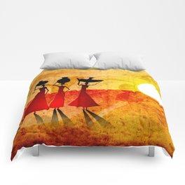 Africa retro vintage style design illustration Comforters