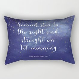 Second star to the right and straight on 'til morning - J.M. Barrie, Peter Pan Rectangular Pillow