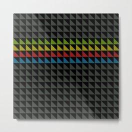 Four Tone Triangles Metal Print